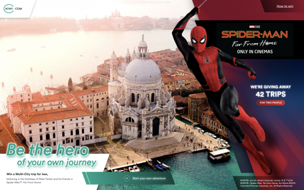 84 Spider-Man™ fans may win €1,000 holidays far from home